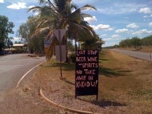 Last drinks - Kakadu